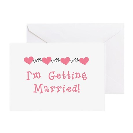 I'm Getting Married (coral) Greeting Card