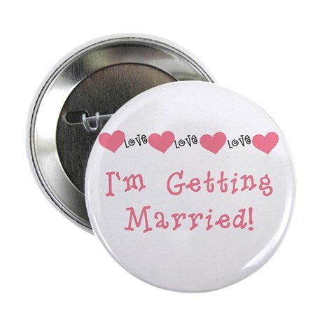 I'm Getting Married (coral) Button