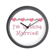 I'm Getting Married (coral) Wall Clock