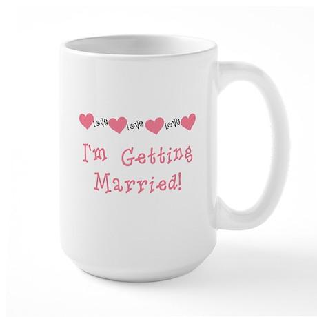 I'm Getting Married (coral) Large Mug