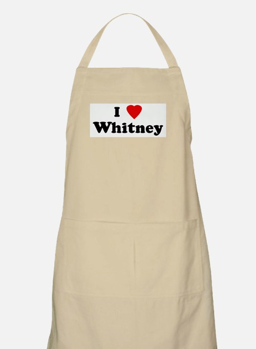 I Love Whitney BBQ Apron