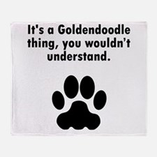 Its A Goldendoodle Thing Throw Blanket
