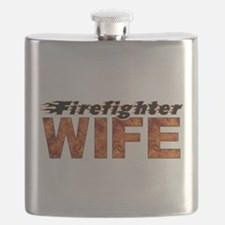 FIREFIGHTER WIFE Flask