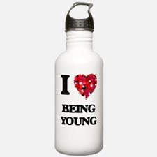 I love Being Young Water Bottle