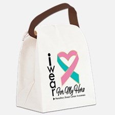 Hereditary Breast Cancer Heart Canvas Lunch Bag