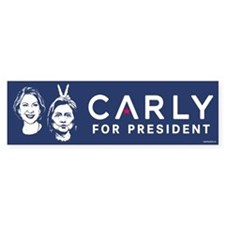 Carly Hillary Bunny Ears Bumper Sticker