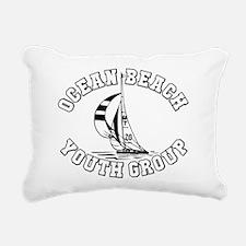 Ocean Beach Sailing Rectangular Canvas Pillow