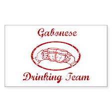 Gabonese Drinking Team Rectangle Decal