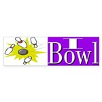I Bowl Bumper Sticker