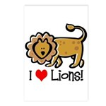 I Love Lions Postcards (Package of 8)