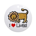 I Love Lions Ornament (Round)