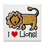 I Love Lions Tile Coaster