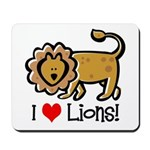 I Love Lions Mousepad