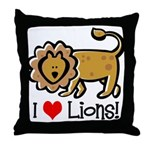I Love Lions Throw Pillow