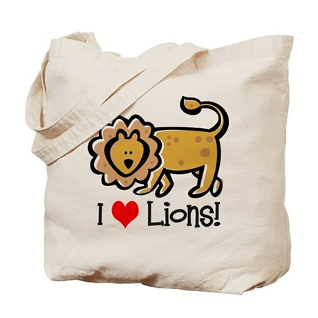 I Love Lions Tote Bag