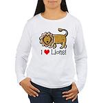 I Love Lions Women's Long Sleeve T-Shirt