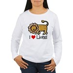 I Love Lions Women's Long Sleeve T-Shirt