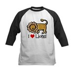 I Love Lions Kids Baseball Jersey