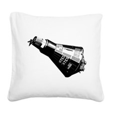 Friendship 7 Spacecraft Square Canvas Pillow