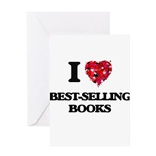 I Love Best-Selling Books Greeting Cards