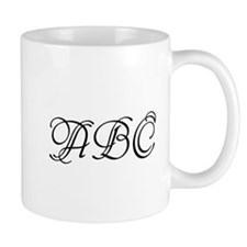 Monogrammed initials template Mugs