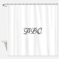 Monogrammed initials template Shower Curtain