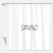 Monogrammed initials template Shower Curtain