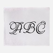 Monogrammed initials template Throw Blanket