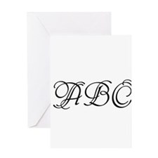 Monogrammed initials template Greeting Cards