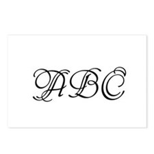 Monogrammed initials template Postcards (Package o