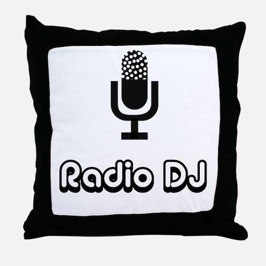 Radio DJ Throw Pillow