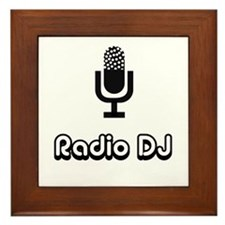Radio DJ Framed Tile