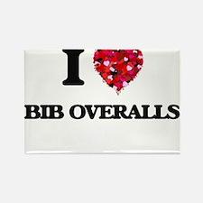 I Love Bib Overalls Magnets