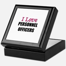 I Love PERSONNEL OFFICERS Keepsake Box