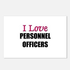 I Love PERSONNEL OFFICERS Postcards (Package of 8)