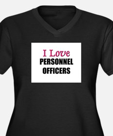 I Love PERSONNEL OFFICERS Women's Plus Size V-Neck