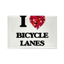 I Love Bicycle Lanes Magnets