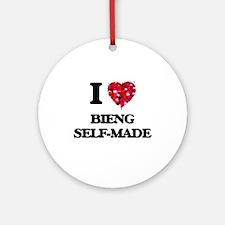 I Love Bieng Self-Made Ornament (Round)