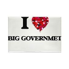 I Love Big Governmet Magnets