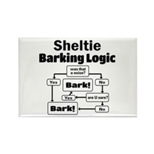Cute Shelties Rectangle Magnet