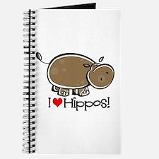 I Love Hippos Journal