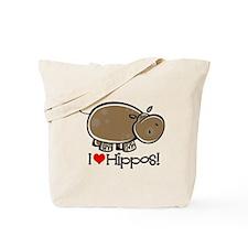 I Love Hippos Tote Bag