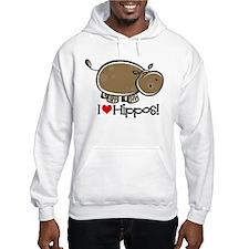 I Love Hippos Hoodie