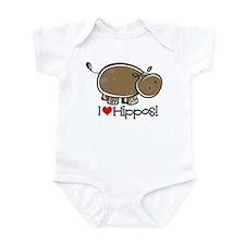 I Love Hippos Infant Bodysuit