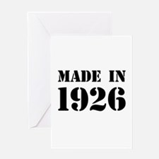 Made in 1926 Greeting Cards
