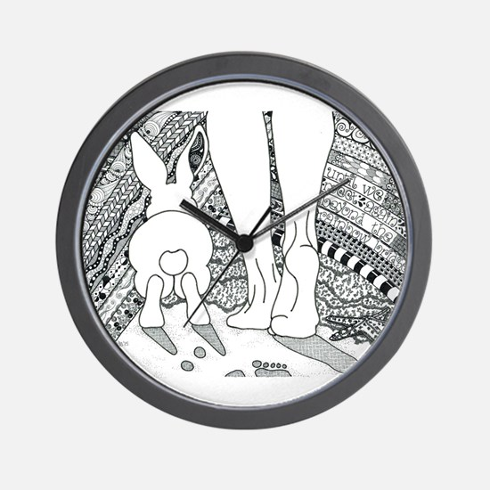Rabbit Beyond the Rainbow Bridge Wall Clock