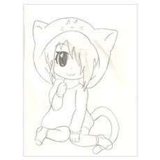 Cat Girl Chibi Canvas Art