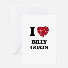 I Love Billy Goats Greeting Cards