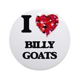 Billy goat Round Ornaments