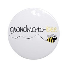 grandma to bee Ornament (Round)